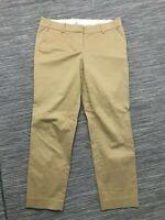 J Crew Café Capri Pant Women's Sz 4 Cropped Straight Leg Cotton/Spandex 57064