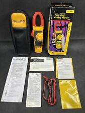 Fluke 337 1000 A Acdc True Rms Clamp Meter With Case Batteries Amp Leads Excellent