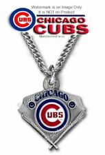 """CHICAGO CUBS NECKLACE - 24"""" STAINLESS STEEL CHAIN MLB BASEBALL - FREE SHIP  #C"""