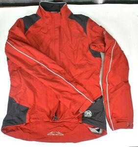 Novara Cycling Jacket Men M Red Full Zip Lightweight Biking Riding Back Pockets