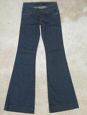J Brand Lovestory Jeans Womens Sz 25 Low Flare w Stretch Dark Blue NEW