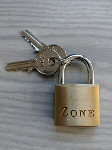 Zone 30mm Brass Padlock