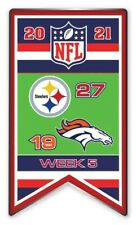 2021 Semaine 5 Bannière Broche NFL Pittsburgh Steelers Vs.Denver Super Bol 56 ?