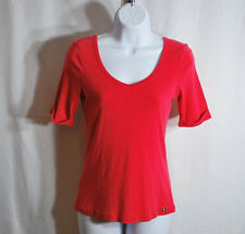 Tommy Bahama 100% Pima Cotton Coral Short Sleeve Blouse Woman's Sz S (4/6)