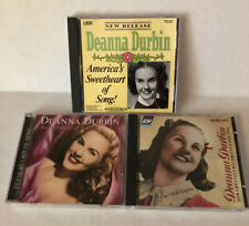 Lot of 3 Deanna Durbin CD's America's Sweetheart