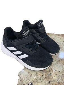 Adidas Boy Girl Black Toddler Size 8