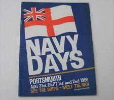1968 PORTSMOUTH NAVY DAYS Programme