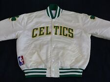 Boston Celtics Starter Veste Bomber BASKETBALL NBA Blanc Vintage Taille:L