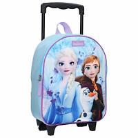 Disney Frozen 2 de Luxe 3D Image Tirer le Long Sac à Dos Sac Chariot Avec Roues