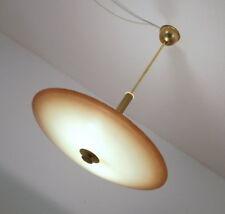 UFO Rauchglas Planeten Deckenleuchte Scheiben Deckenlampe Ø 55 cm Vintage 50er J