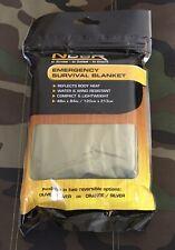 NDUR Emergency Survival Blanket, Olive/Silver.