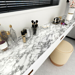 Grey Marble Wallpaper Peel and Stick Contact Paper Self Adhesive Waterproof D221