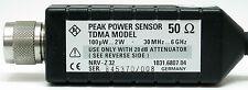 R&S Rohde & Schwarz NRV-Z32 power sensor -10+33dBm 30MHz 6GHz URV35 w/Attenuator