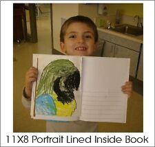 PLAIN HARD COVER BLANK BOOKS HALF LINED INSIDE FOR ILLUSTRATION 11X8 (28) PGS.