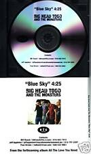 BIG HEAD TODD and THE MONSTERS Blue Sky PROMO CD Single