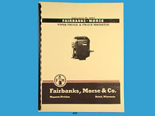 Fairbanks Morse Magneto Instruct &  Parts Manual for FM-O1A & FM-O1B Mags  *432