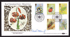 1985 INSECTS ON SIGNED BENHAM BLCS 2  SIGNED FDC