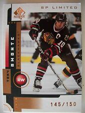 2001-02 SP AUTHENTIC LIMITED # 14 TONY AMONTE 145 / 150 BLACKHAWKS  !! BOX # 7