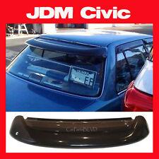 JDM 1989 Honda Civic Sedan 4 Door Rear Roof Window Visor with Stability Brackets