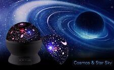 360 grados de rotación Estrellas Luz De Noche Lámpara de proyección de cielo para Niños Dormitorio Negro