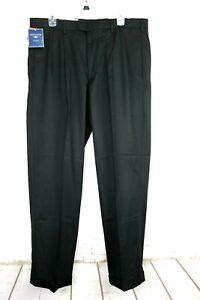 Dockers w/ Tags Dress Men's 36x32 Black Relax Pants, Wool Blend, Pleat, Cuff