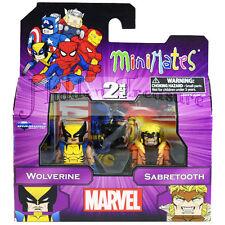 MiniMates Marvel Best of Series 1 WOLVERINE and SABERTOOTH Figure 2 Pack