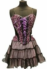 Lo Steampunk/Gothic Animale Rosa Corsetto Tea Party Vestito SM