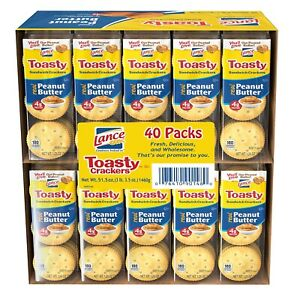 Lance Toasty Peanut Butter Sandwich Crackers (40 CT) (1 PACK)
