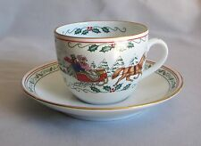 Cup & Saucer Royal Worcester China Village Christmas Pattern