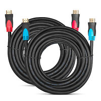 2 PACK 25 FT HDMI Cable High Speed Premium 1.4 1080P Male HDTV PS3 DVD LCD xBox