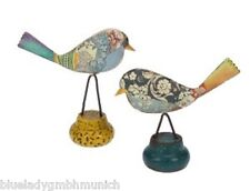Figur VOGEL Paar ✿ Tweety ✿ Bunt Metall Deko FIGUR Bird Set OISEAUX 2 pieces