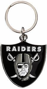 Las Vegas Raiders NFL Metal Chrome Logo Cut Keychain Car Auto