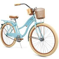 "Huffy 26"" Womens Nel Lusso Cruiser Bike with Perfect Fit Frame, Blue"