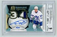 2016-17 Auston Matthews UD The Cup Honorable Numbers Rookie Patch Auto 15/34 BGS