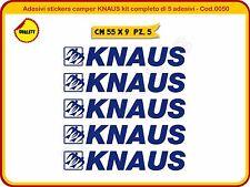 Adesivi stickers camper KNAUS kit completo di 5 adesivi - Cod.0050