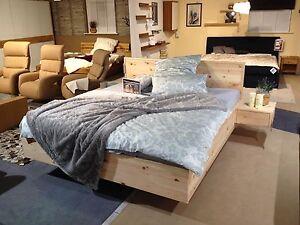 Zirbenholz - Bett Rainer 180x200 cm Zirbe Massiv Holz Schwebeoptik Qualität Neu