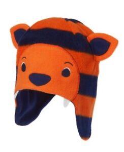Boys Gymboree Orange Tiger Hat Fleece Winter Hat NWT Arctic Explorer 12-24 M