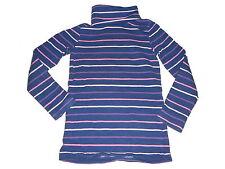 H & M tolles Langarmshirt Gr. 110 / 116 blau-rosa geringelt mit Rollkragen !!