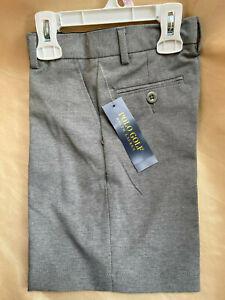 New!  RALPH LAUREN POLO Boys Golf Dress Shorts gray wrinkle-free heather