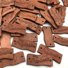 100 pcs Wooden Brown Handmade Buttons Lot Craft/Kids Sewing Embellishment WB426