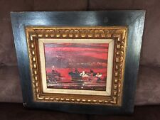 Framed Painting - Boat In Water - Rochelle