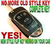 CHROME FLIP KEY remote for 10-14 Toyota FJ CRUSIER CHIP-L CLICKER fob ALARM FTG