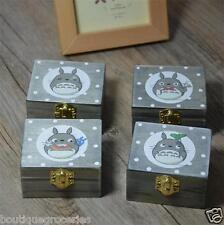 1pc New Hayao Miyazaki Totoro Wooden Clockwork Music Box Creative Birthday Gift