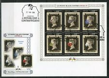 Central Africa 2020 Masked Penny Black Sheet First Day Cover