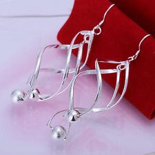 Free Shipping!New Fashion Sterling Solid Silver Women's Beautiful Earrings TE137