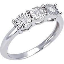 Anello Bliss Rugiada 20073933 Ring Oro Bianco Diamante 0,13 ct Donna Trilogy