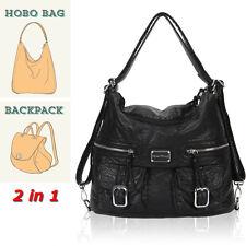 Designer Convertible Soft Vegan Leather Shoulder Bags Women Backpack Daily Hobo