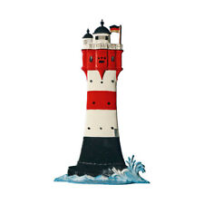 Leuchtturm Roter Sand, 10x6 cm Standfigur aus Zinn - Wilhelm Schweizer -