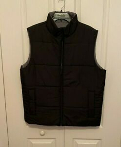 Reversible Puffer Vest Black on one side Gray on the other XL