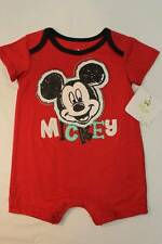NEW Disney Baby Boys Outfit 0 - 3 Months Mickey Mouse Bodysuit Romper 1 Piece